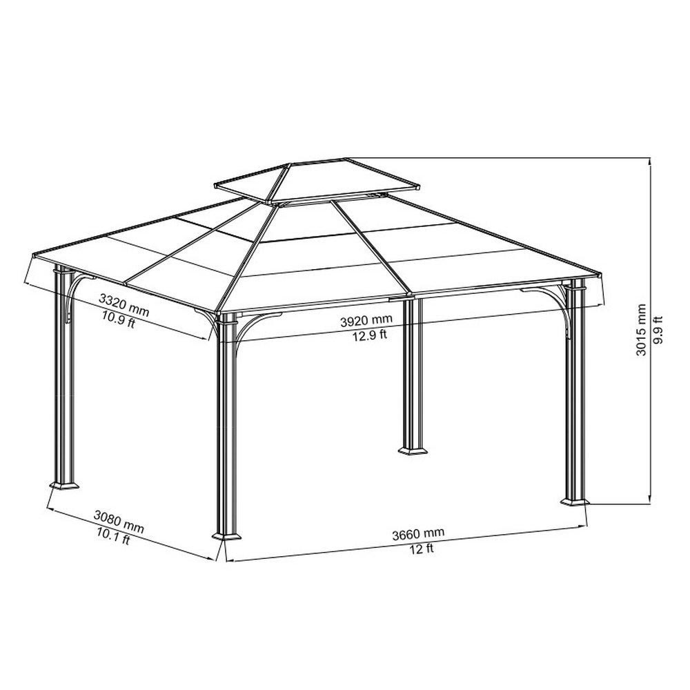 10 X 12 Metal Roof Gazebo Pergola Design Ideas