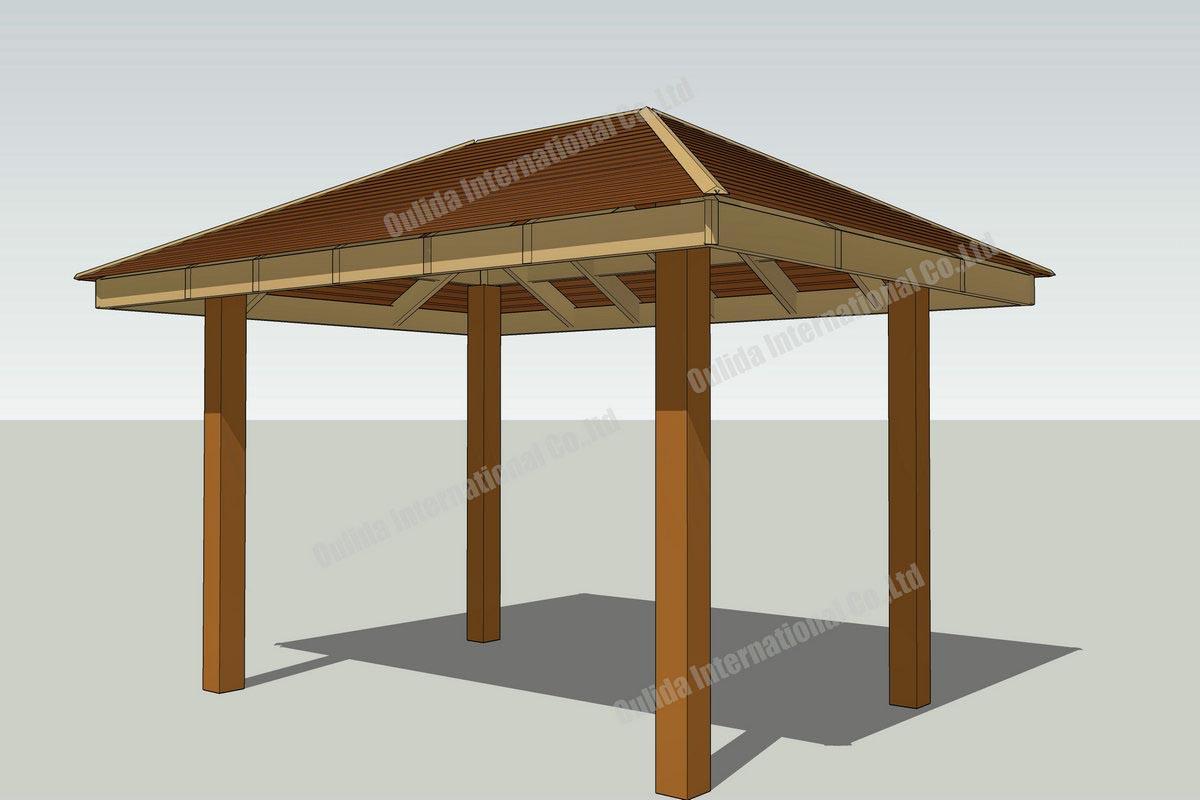 10 10 square gazebo plans pergola design ideas for How to build a square gazebo