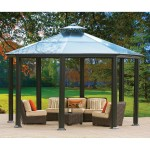 Aluminum and Steel Hardtop Gazebo