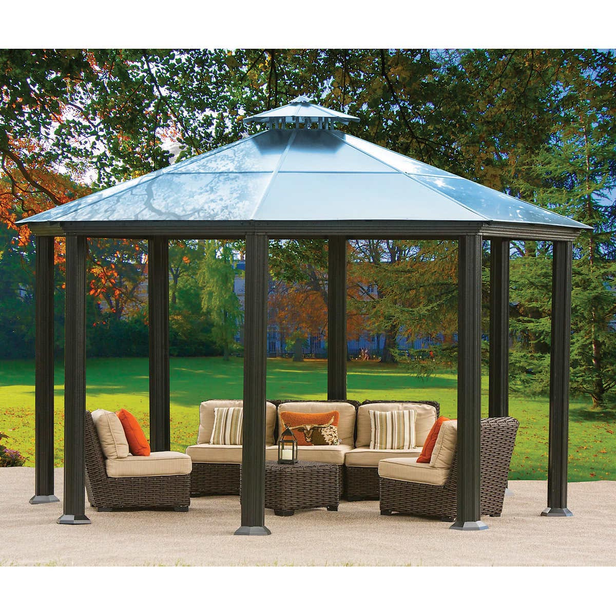 aluminum and steel hardtop gazebo pergola design ideas. Black Bedroom Furniture Sets. Home Design Ideas