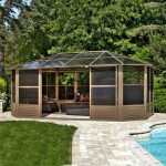 Aluminum Hardtop Screened Gazebo