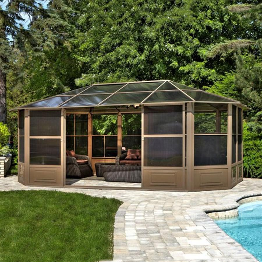 Aluminum Hardtop Screened Gazebo | Pergola Design Ideas