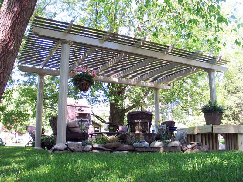 Attached Aluminum Pergola Kits