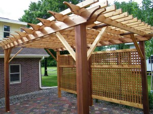 Attached Cedar Pergola Kits