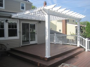 Attached Vinyl Pergola Kits