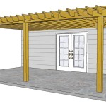 Attached Wood Pergola Kits