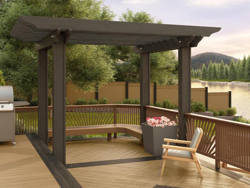 brown vinyl pergola kits pergola design ideas. Black Bedroom Furniture Sets. Home Design Ideas