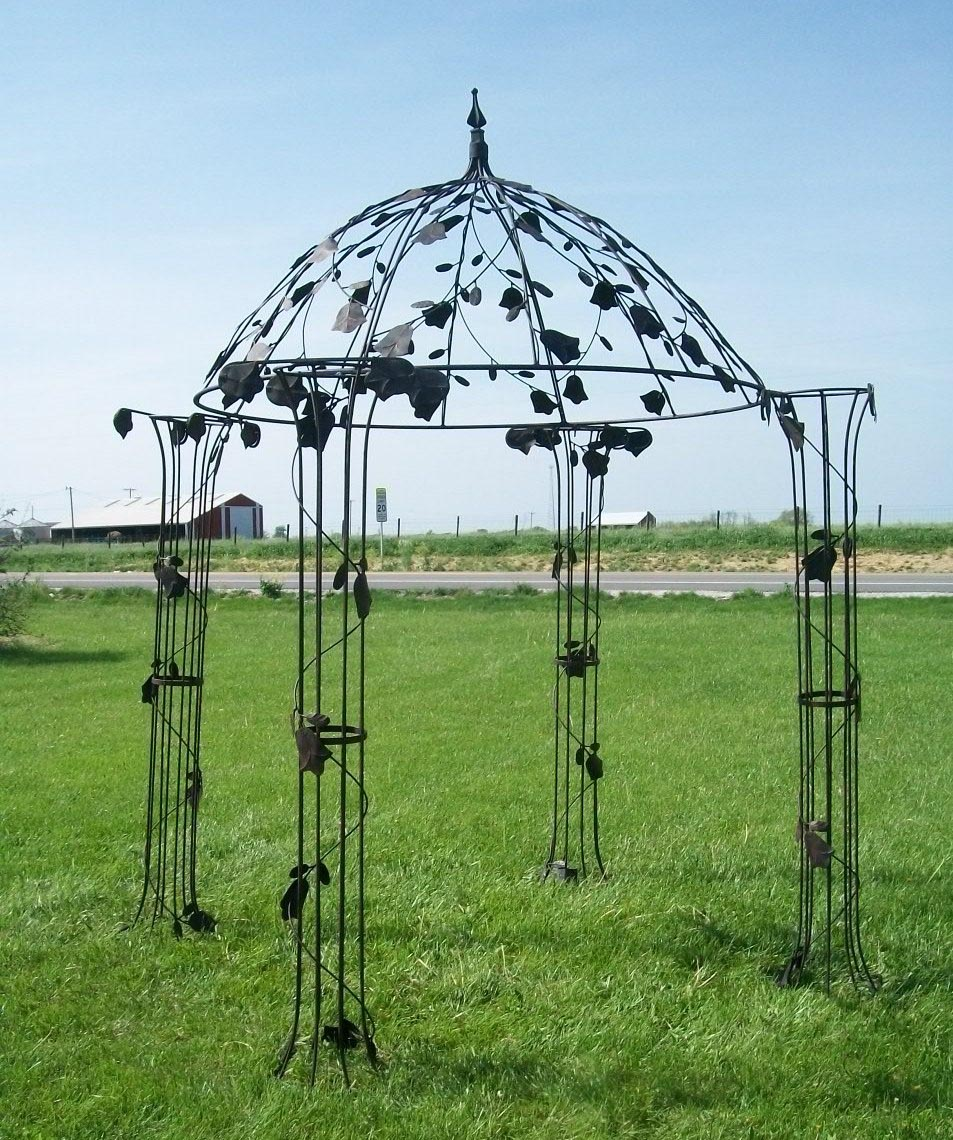 Buckingham garden party metal frame gazebo pergola for Metal frame pergola designs
