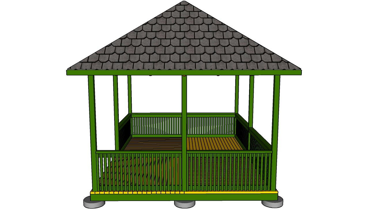 Building plans for a rectangular gazebo pergola design ideas - Build rectangular gazebo guide models ...