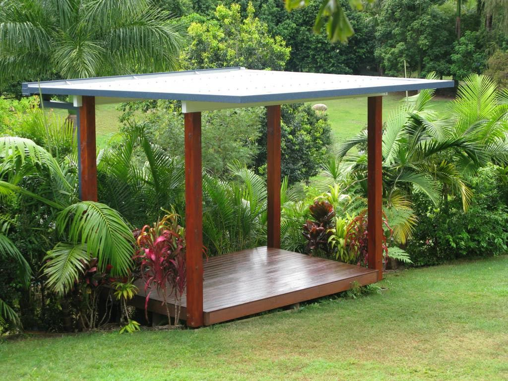 Corrugated Metal Roof Pergola