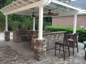Brown Vinyl Pergola Kits Pergola Design Ideas