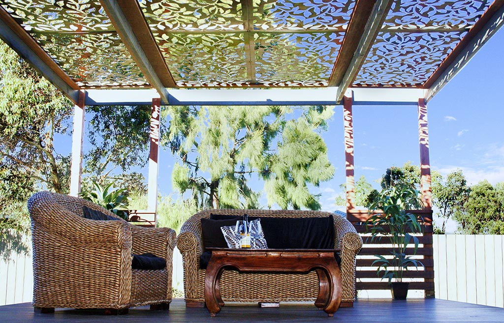 Decorative Metal Pergola Roof