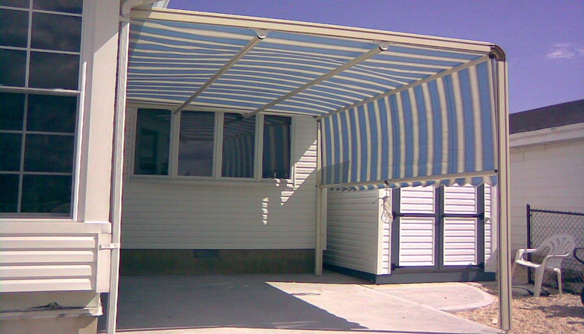 DIY Fabric Pergola Canopy
