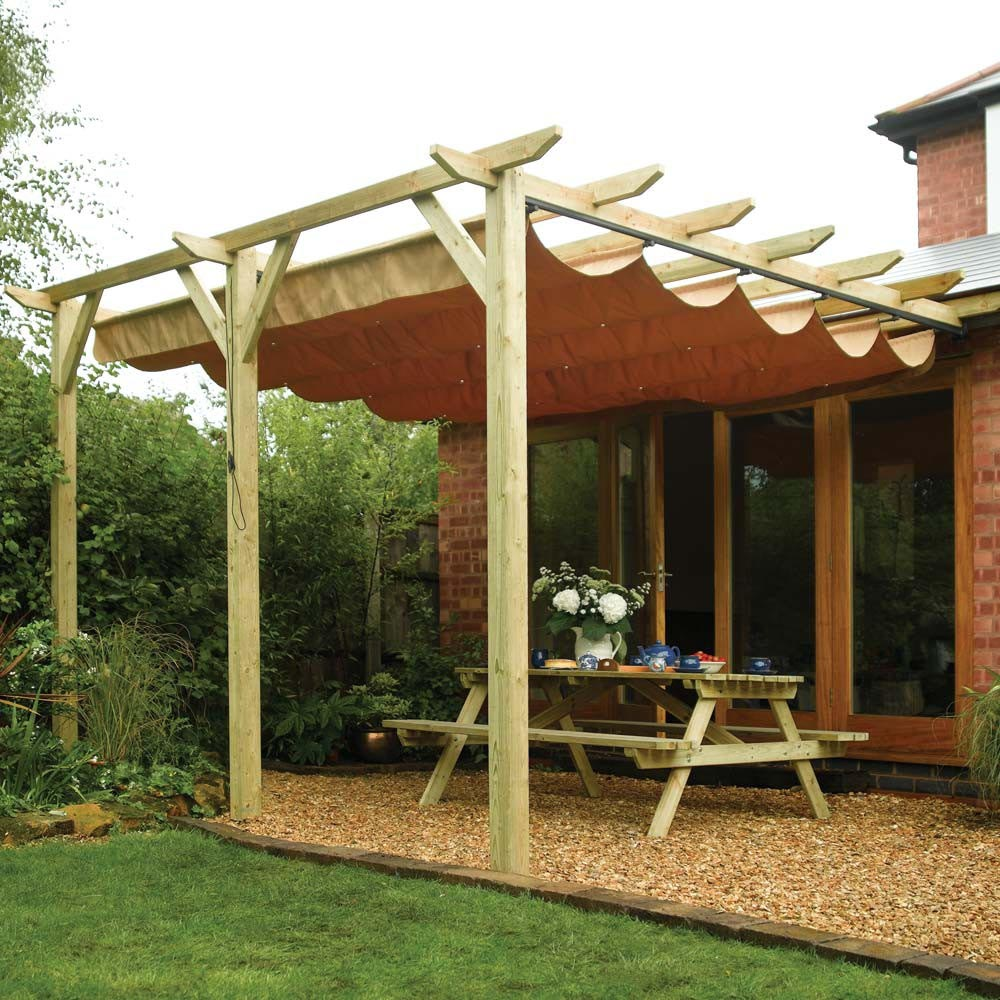 Diy retractable pergola roof pergola design ideas - Pergola alu toile retractable ...