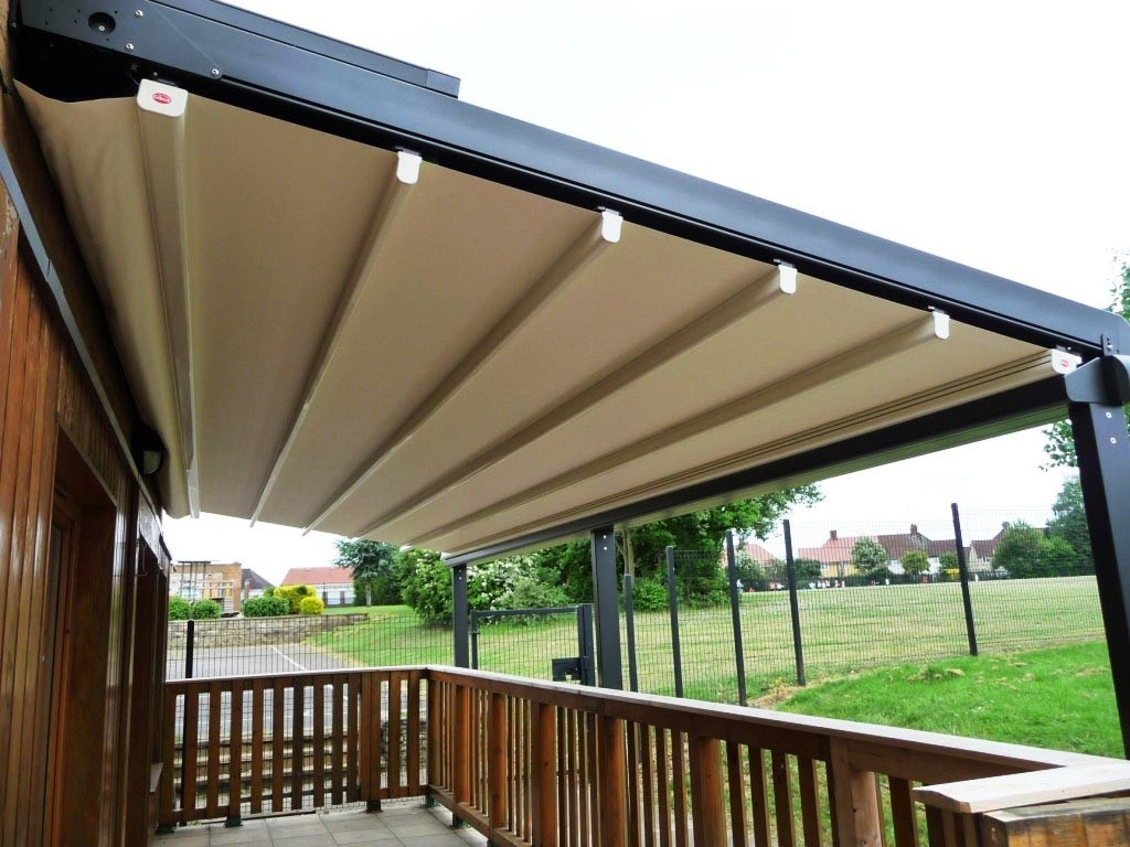 DIY Retractable Roof Pergola