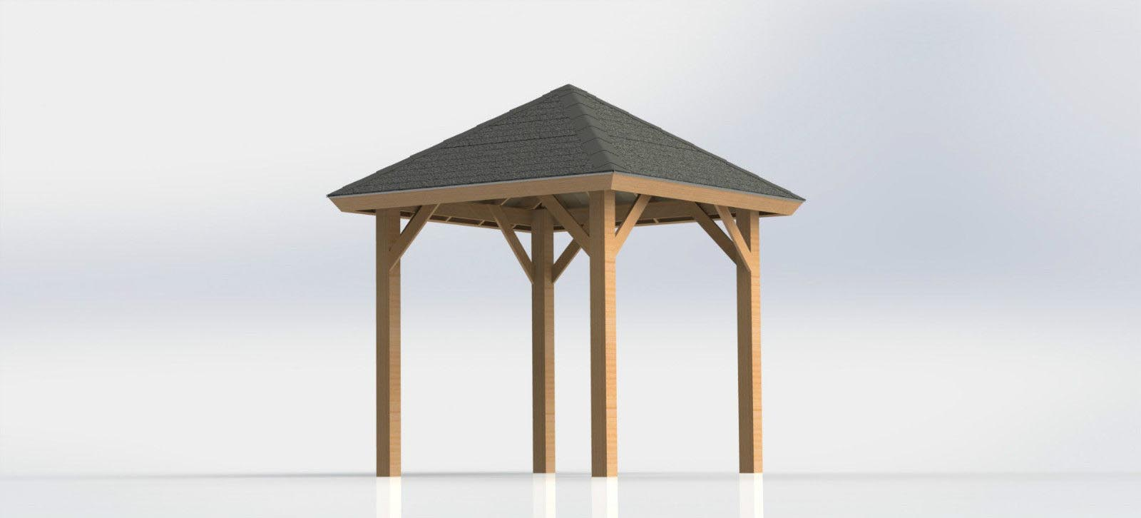 Do It Yourself Home Design: Free Square Gazebo Plans