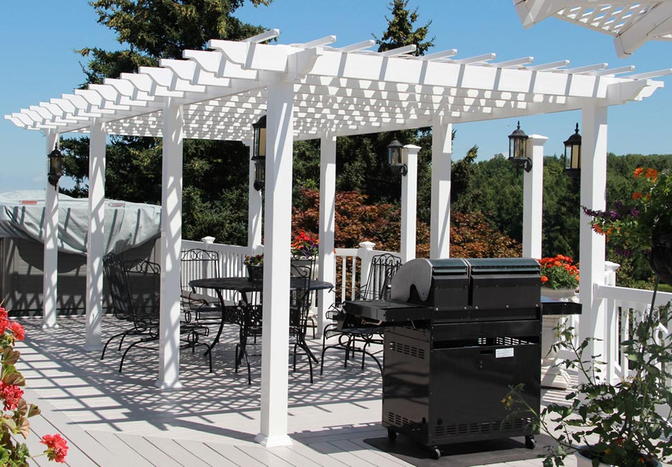 free standing vinyl pergola kits pergola design ideas. Black Bedroom Furniture Sets. Home Design Ideas