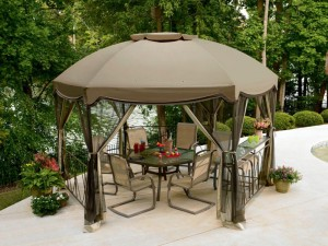 Garden Oasis Pergola Deluxe Shaded Canopy Pergola Design Ideas