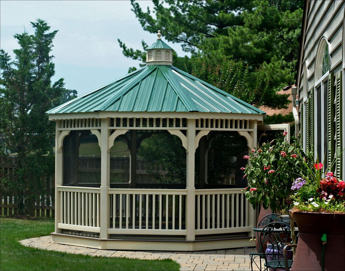 Gazebo with Metal Roof