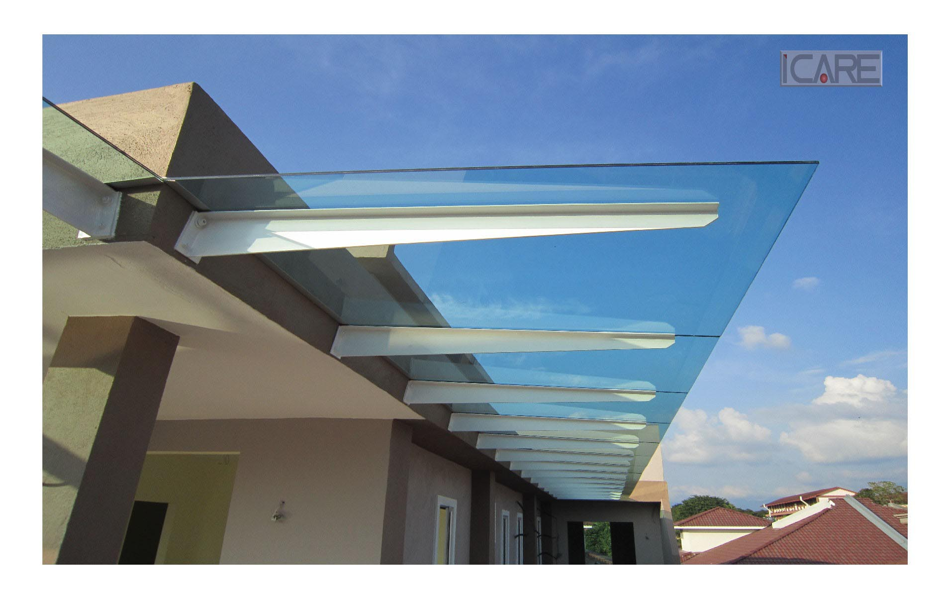 Glass Roof Panels Pergola