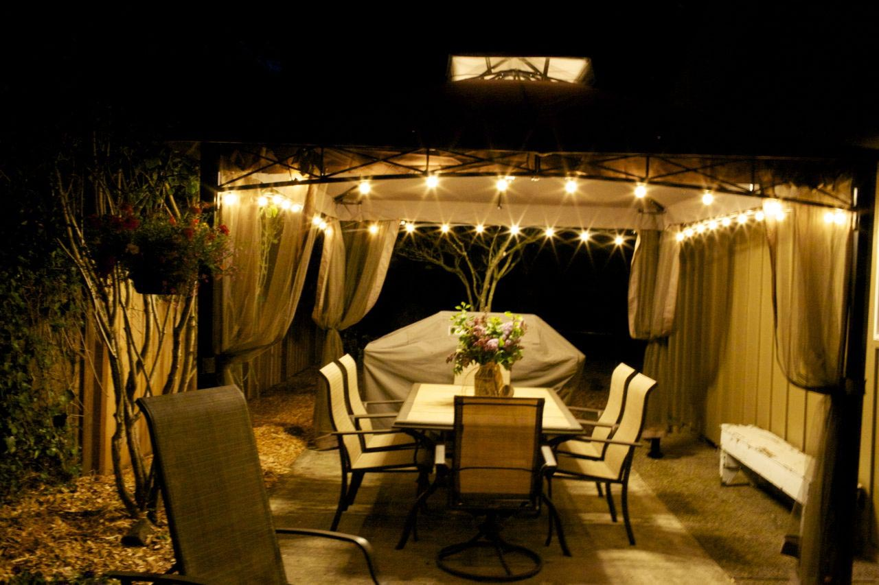 Hampton Bay Solar Lighted Gazebo