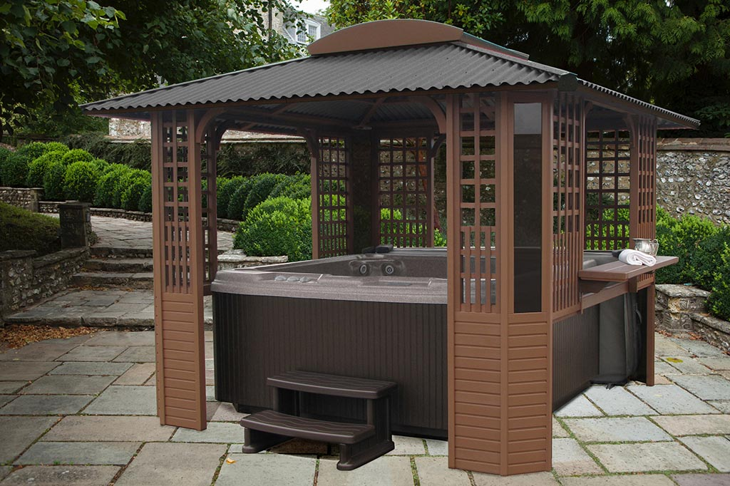 Hot tub gazebo plans free pergola design ideas for Diy hot tub gazebo