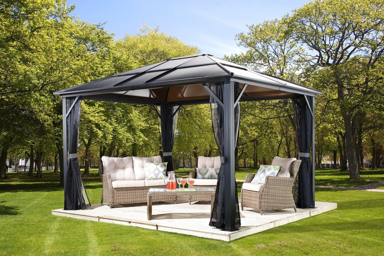 Living Home Outdoors 10x12 Aluminum Hardtop Gazebo Reviews