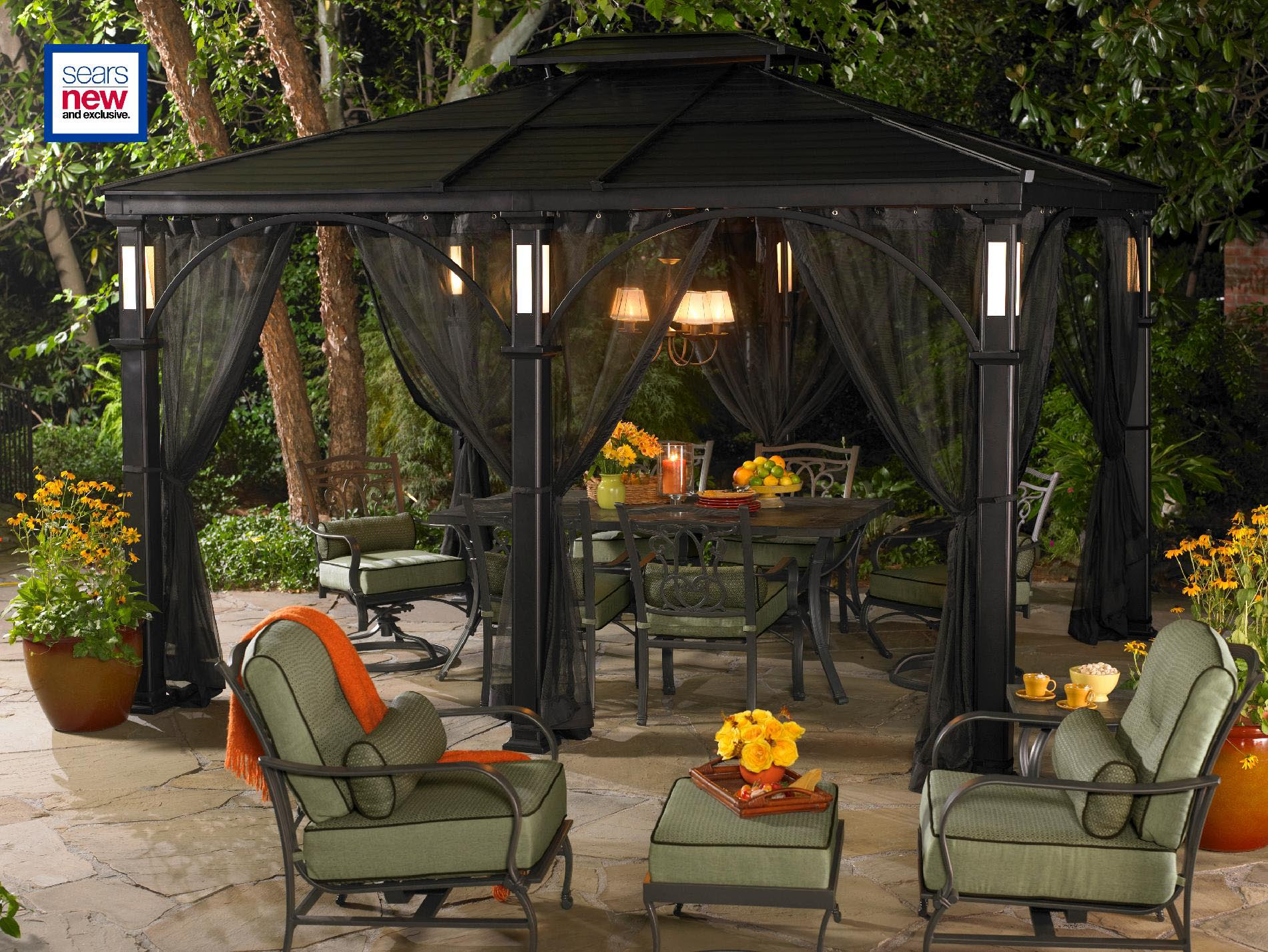 Living Home Outdoors 10x12 Aluminum Hardtop Gazebo