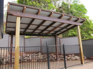 Metal Roof on Gazebo