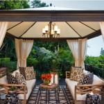 Outdoor Fabric Covered Pergola