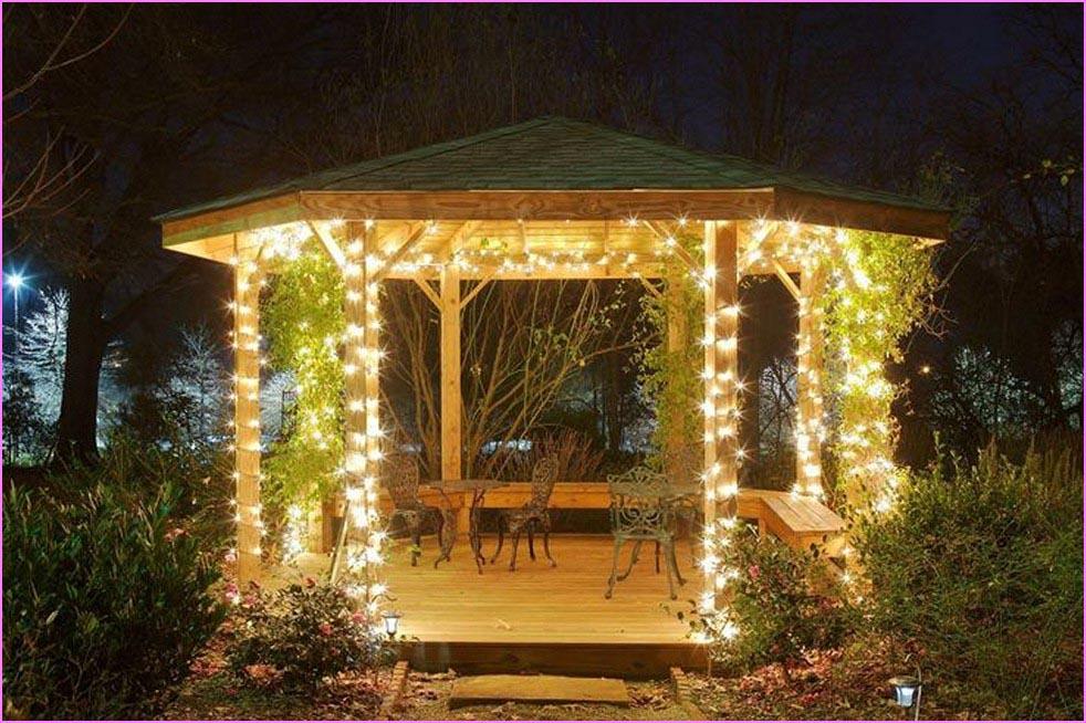 Outdoor Gazebo String Lights