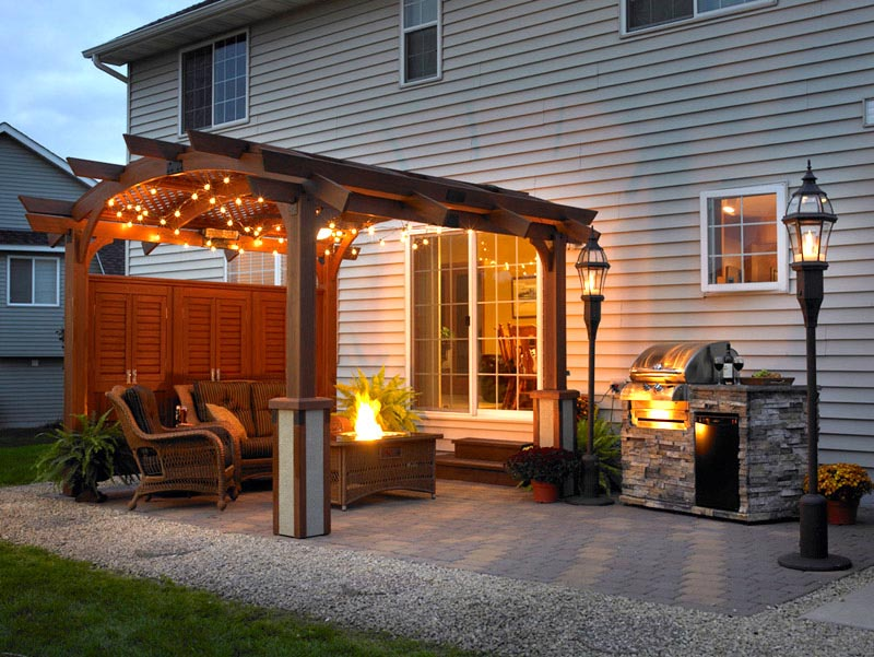 Outdoor Hanging Lights for Pergola