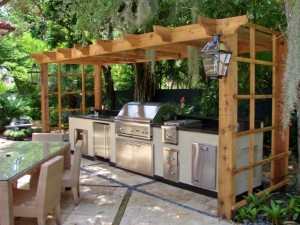 Outdoor Kitchen Pergola Kits