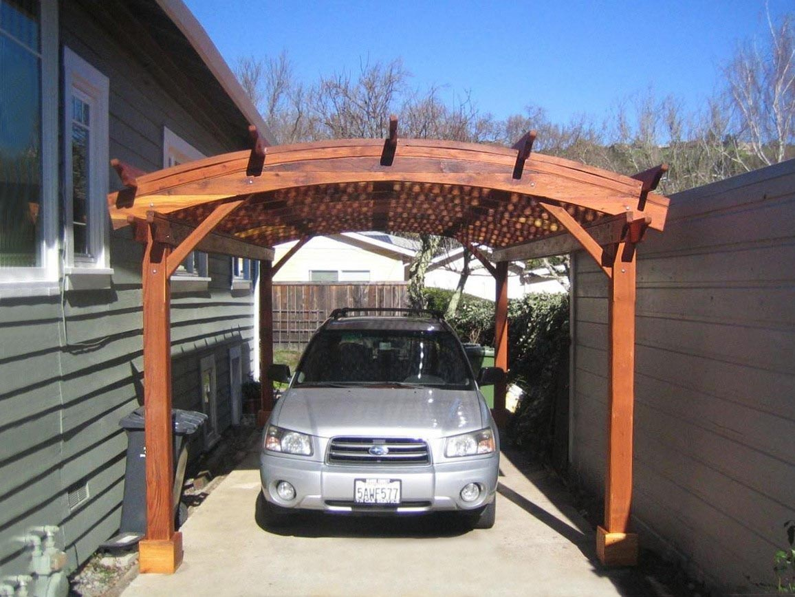 Pergola Over Garage Kit
