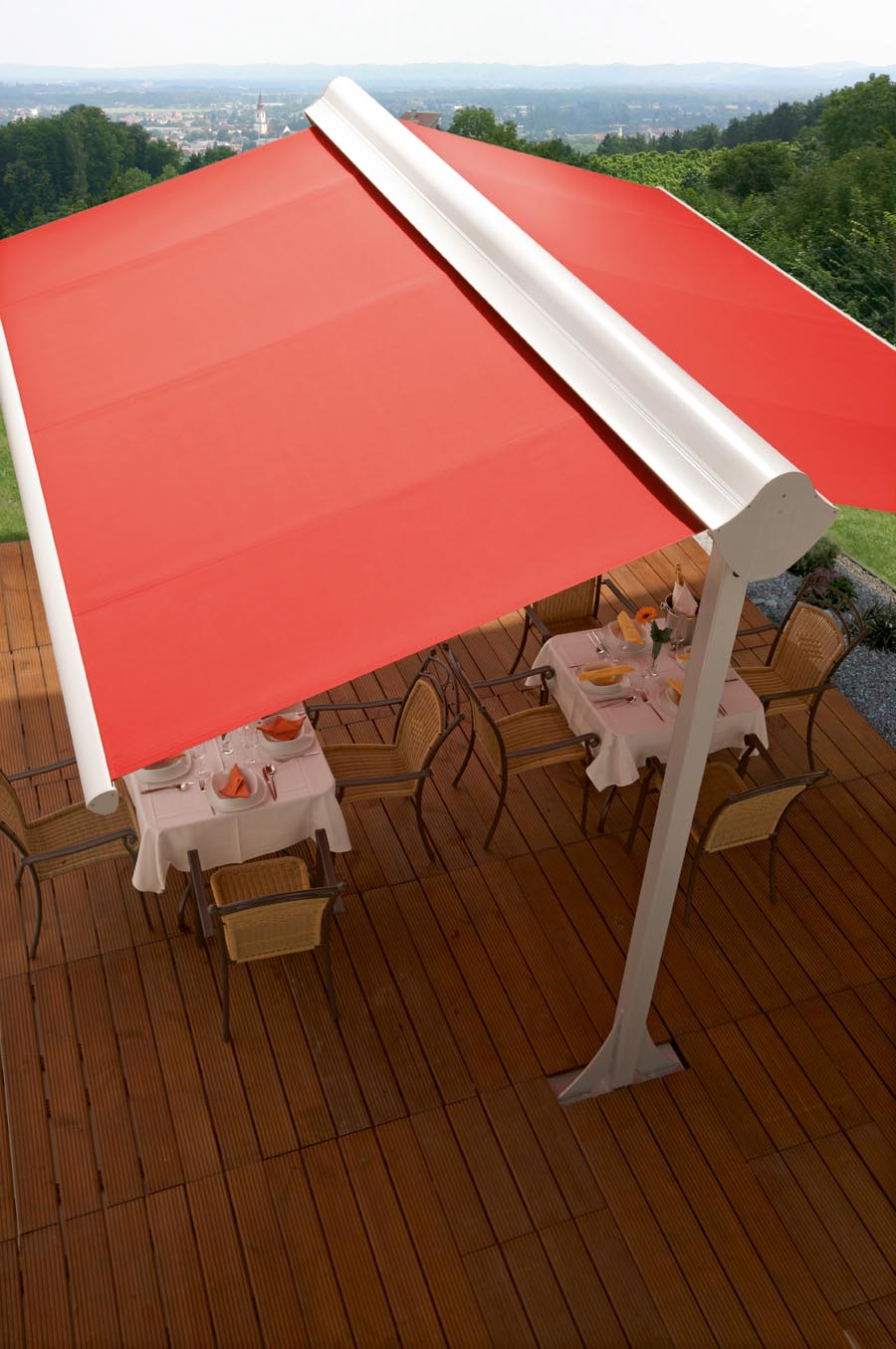 Pergola Retractable Waterproof Canopy