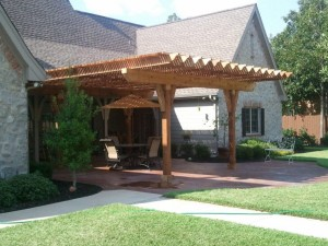 Pergola with Covered Roof