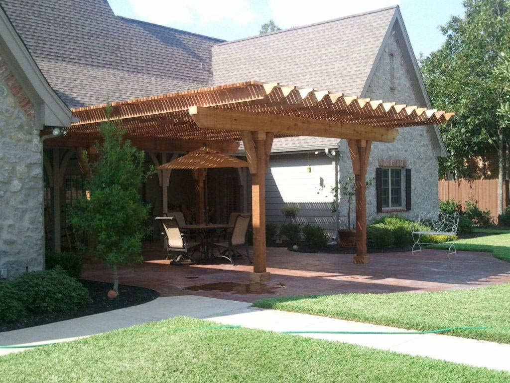 Pergola With Covered Roof Design Ideas