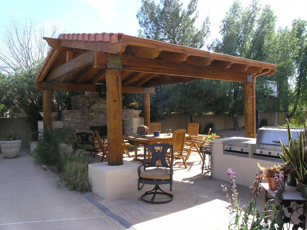 Pergola with Roof Covered