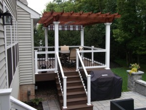 Pergola with Shade Canopy