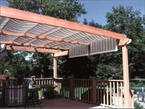 Pergolas with Fabric Coverings