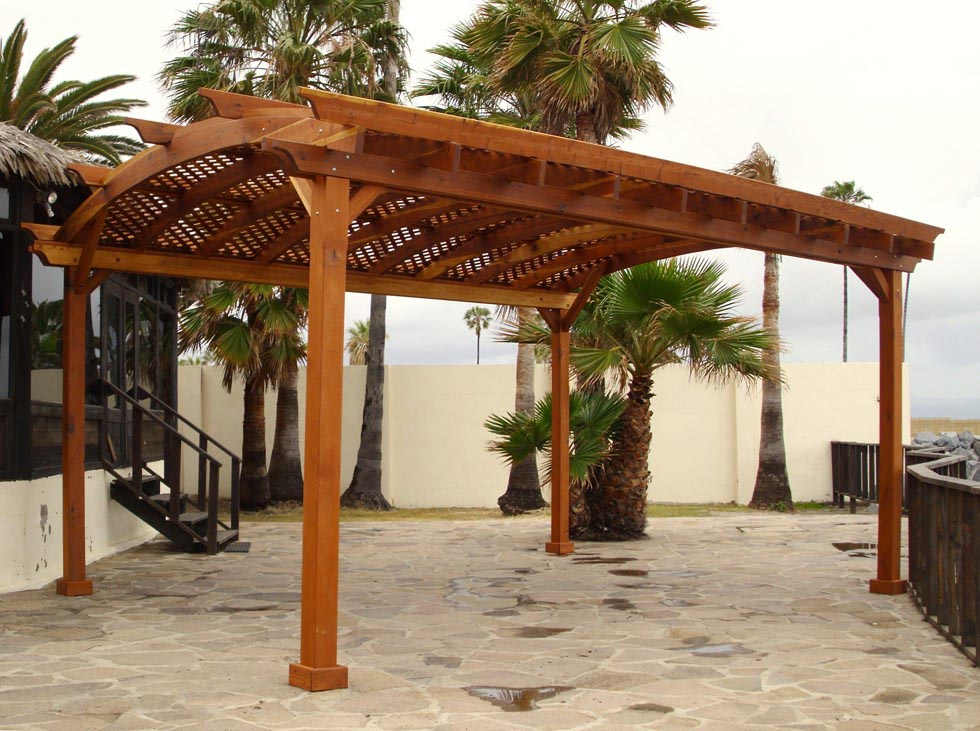 Pre Manufactured Arched Pergola Kits