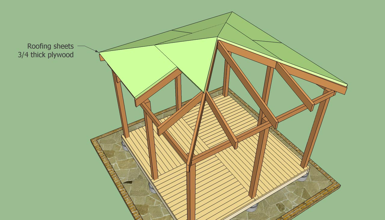 The Rectangular Gazebo Plans Pergola Design Ideas