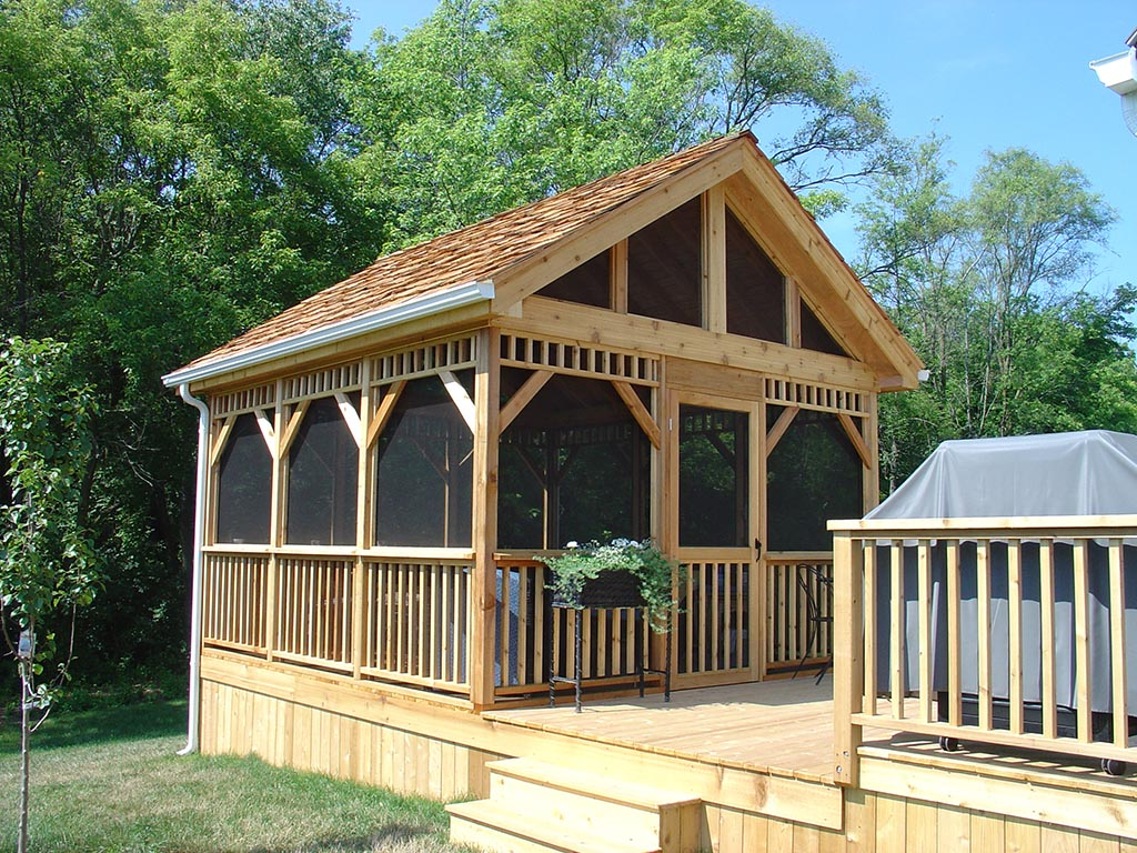 Rectangular Screened Gazebo Kits