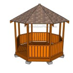 Rectangular Wooden Gazebo Plans