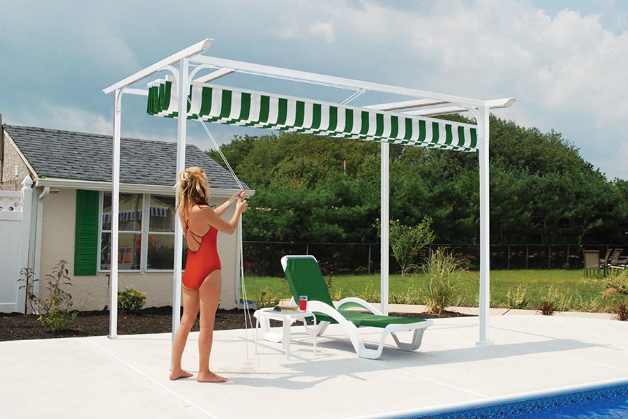 Retractable Pergola Roof Covering