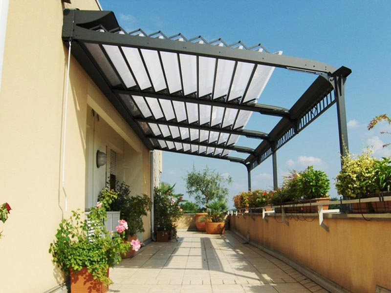 Retractable Roof Pergola Kit
