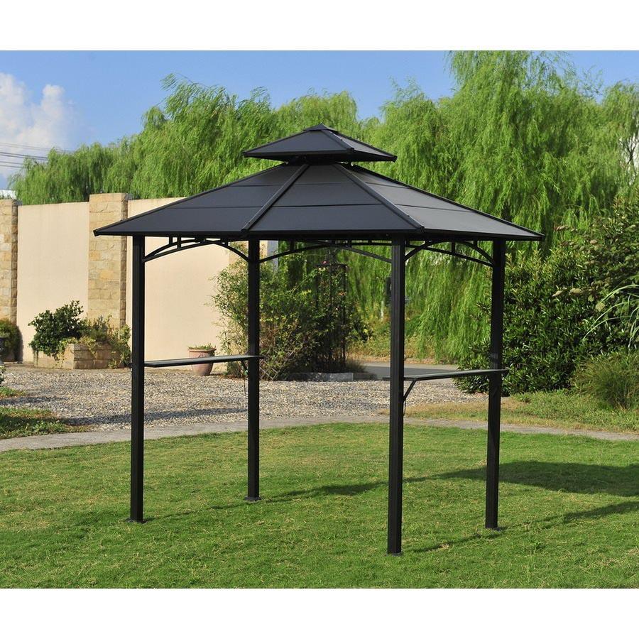 Metal Covered Gazebos : Rona gazebo metal roof pergola design ideas