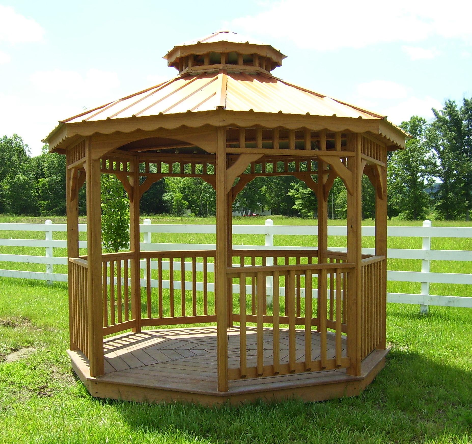 Screen for outdoor gazebo pergola design ideas for Pergolas para jardin