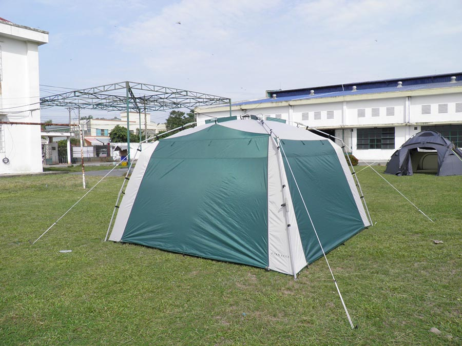 Screened Tent Gazebo with Rain Flaps