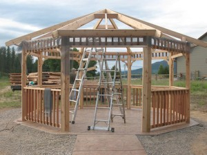 Screened Wood Gazebo Kits